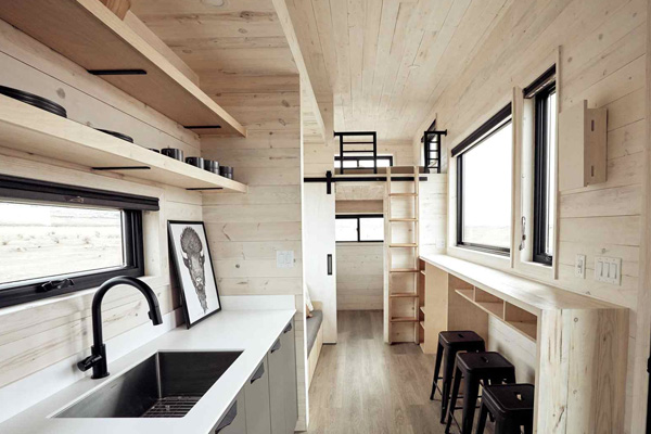Tiny House Life in Bowie from a Shell Kit